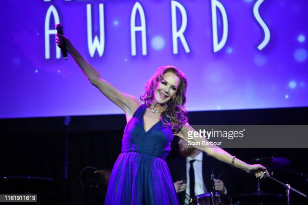 Rhonda Burchmore performs during the 19th Annual Helpmann Awards Act I at Melbourne Arts Centre on July 14 2019 in Melbourne Australia