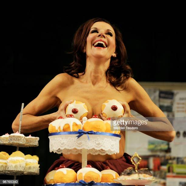 Rhonda Burchmore performs during the opening night of the play Calendar Girls at Theatre Royal on April 30 2010 in Sydney Australia