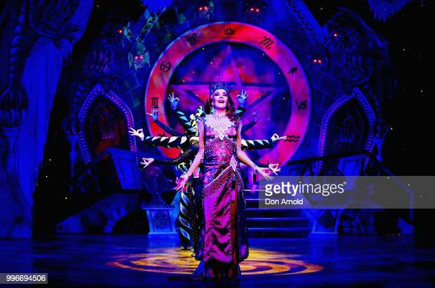 Rhonda Burchmore plays the role of Carabosse during a media call for Sleeping Beauty A Knight Avenger's Tale at State Theatre on July 12 2018 in...
