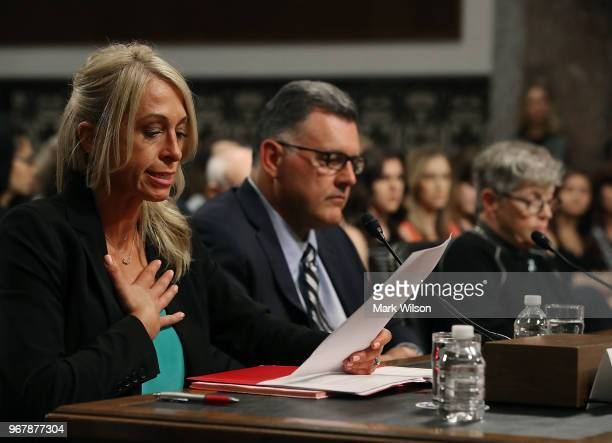 Rhonda Faehn former director of the USA Gymnastics Women's Program Steve Penny former president of USA Gymnastics and Lou Anna Simon former president...
