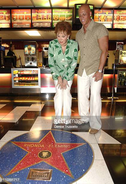 Rhonda Fleming and Johnny Brenden during CineVegas Film Festival 2005 Rhonda Fleming Recieves Brenden Celebrity Star at Brenden Theatres in Las Vegas...