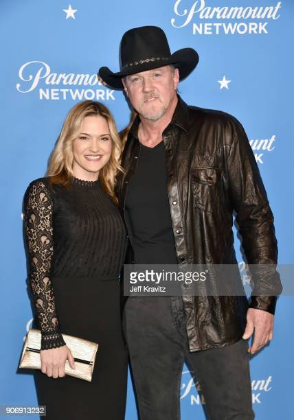 Rhonda Forlaw and Trace Adkins attend Paramount Network launch party at Sunset Tower on January 18 2018 in Los Angeles California