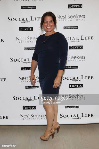 Rhonda Klch attends the Social Life Magazine Nest Seekers August Issue Party on August 12 2017 in Southampton New York