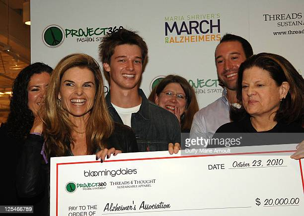 Rhonda LantzTeichert Maria Shriver Patrick Schwarzenegger Eric Fleet and Anne Keating attend the Think Purple Now Fundraiser with Project 360 and...