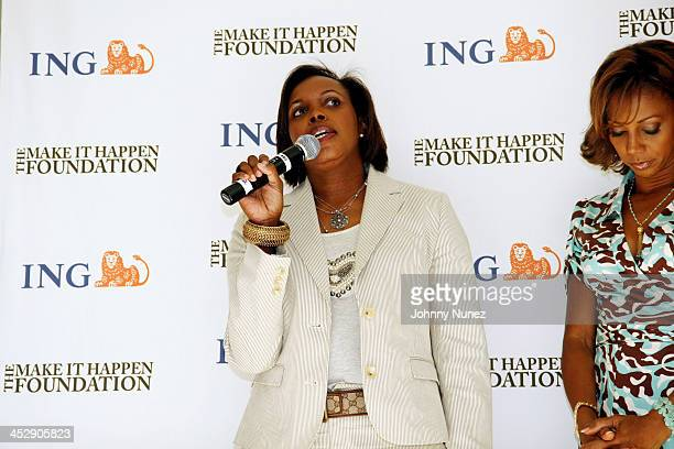 Rhonda Mims during The Make It Happen Foundation and ING Power Brunch Hosted by Kevin Liles at Sunset Tower Hotel Pool in Hollywood California United...