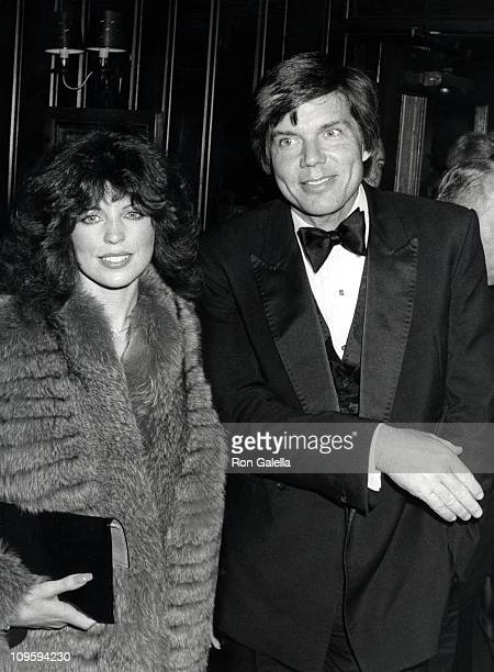 Rhonda Rivera and John Davidson during Opening Night Party for Turn To The Right at Chasen's Restaurant in Beverly Hills California United States