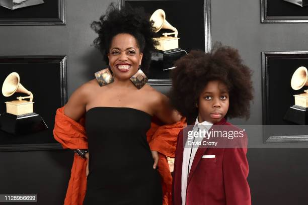 Rhonda Ross and RaifHenok Emmanuel Kendrick attend the 61st Annual Grammy Awards at Staples Center on February 10 2019 in Los Angeles California