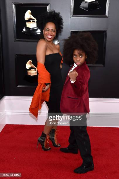 Rhonda Ross and RaifHenok Emmanuel Kendrick attends the 61st Annual GRAMMY Awards at Staples Center on February 10 2019 in Los Angeles California
