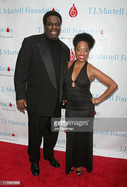 Rhonda Ross and Rodney Kendrick arrive at the 32nd Annual TJ Martell Foundation Gala at the New York Hilton and Towers On October 23 2007 in New York...