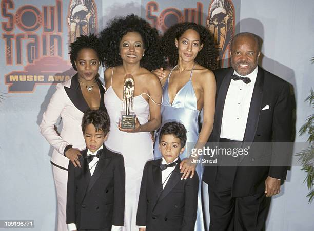 Rhonda Ross Diana Ross Tracee Ross Berry Gordy Evan Naess and Ross Arne Naess