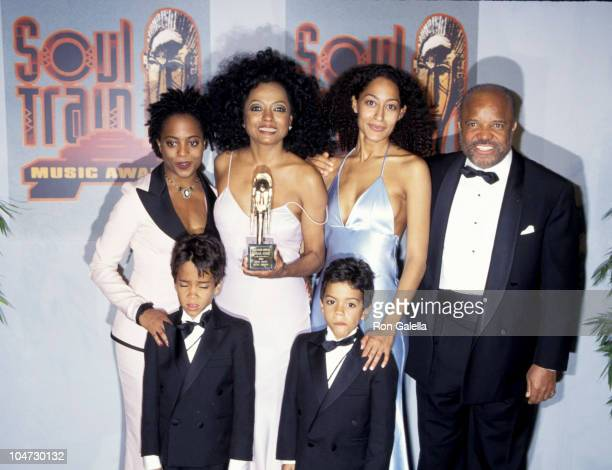 Rhonda Ross Diana Ross Tracee Ross Berry Gordy Ross Arne Naess and Evan Naess