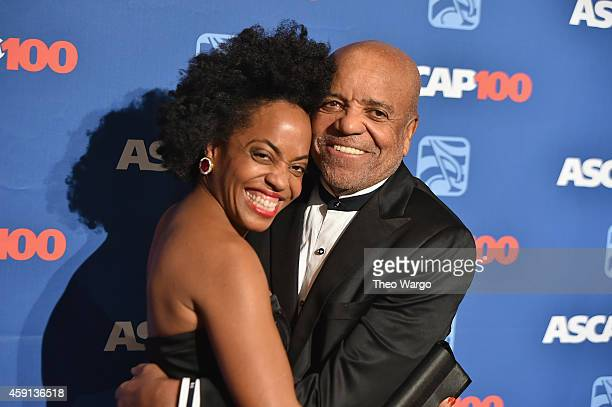 Rhonda Ross Kendrick and Berry Gordy attend the ASCAP Centennial Awards at Waldorf Astoria Hotel on November 17 2014 in New York City
