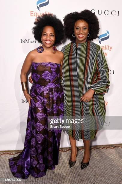 Rhonda Ross Kendrick and Chimamanda Ngozi Adichie attend the annual Make Equality Reality Gala hosted by Equality Now on November 19 2019 in New York...