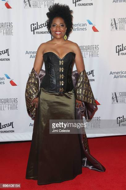 Rhonda Ross Kendrick attend the Songwriters Hall Of Fame 48th Annual Induction And Awards at New York Marriott Marquis Hotel on June 15 2017 in New...
