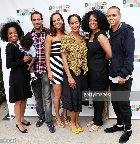 Rhonda Ross Kendrick Raif Kendrick Ross Naess Chudney Ross Tracee Ellis Ross Diana Ross and Evan Ross attend Books Cookies grand opening at Books and...
