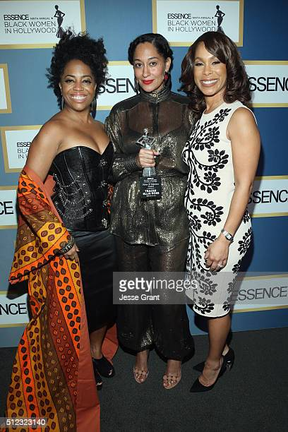 Rhonda Ross Kendrick Tracee Ellis Ross and SVP Drama Development at ABC Studios Channing Dungey attend the 2016 ESSENCE Black Women In Hollywood...