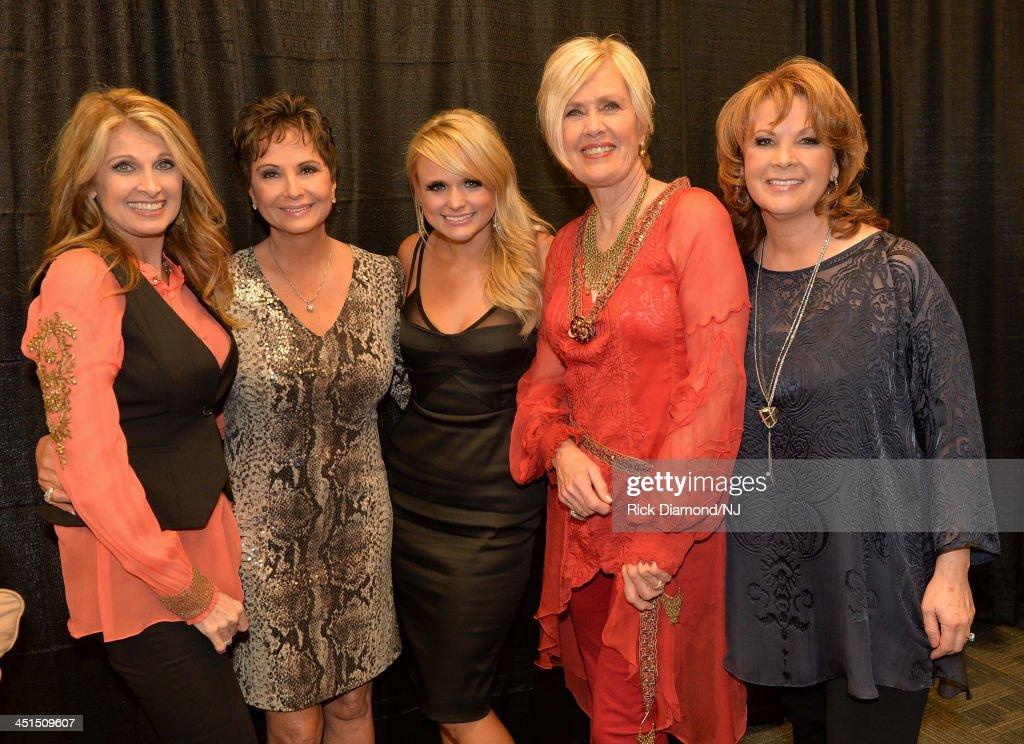 Rhonda Vincent, Nancy Jones, Miranda Lambert, Janie Fricke, and Patty Loveless attend Playin' Possum! The Final No Show Tribute To George Jones at Bridgestone Arena on November 22, 2013 in Nashville, Tennessee.