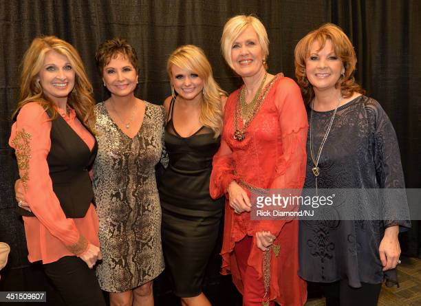 Rhonda Vincent Nancy Jones Miranda Lambert Janie Fricke and Patty Loveless attend Playin' Possum The Final No Show Tribute To George Jones at...
