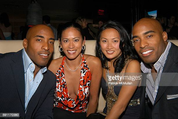 Rhonde Barber Claudia Barber Ginny Barber and Tiki Barber attend Conde Nast Traveler Hot List party at Megu on April 27 2005 in New York City