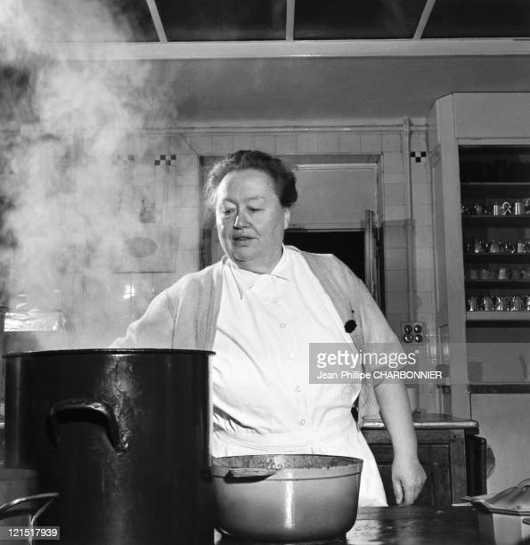 Rhone Madame Brazier In Her Kitchen During The 1950'S