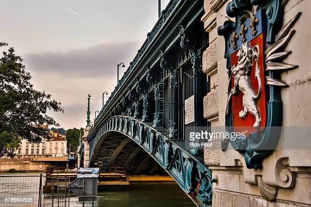 Rhone River Bridge, Lyon, France