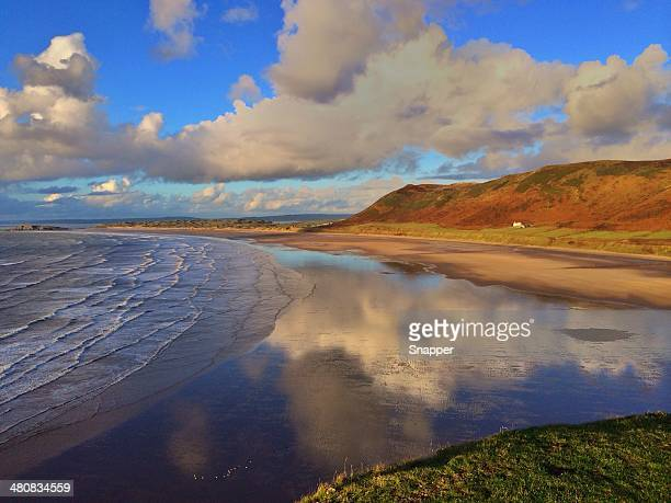 rhossili bay, gower peninsula, wales, uk - south wales stock pictures, royalty-free photos & images