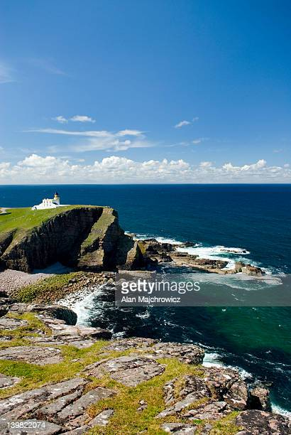 Rhu Stoer Lighthouse at Point of Stoer, Assynt - Coigach National Scenic Area, Scotland, UK