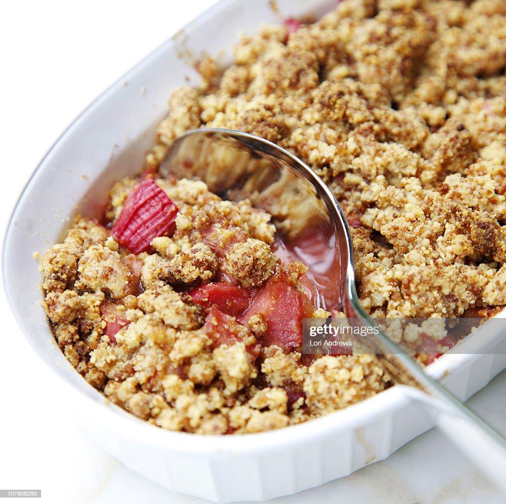 Rhubarb crumble : Stock Photo
