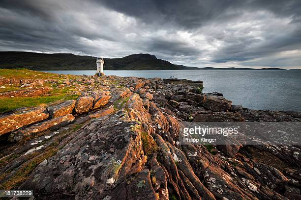 rhue lighthouse - wester ross stock pictures, royalty-free photos & images
