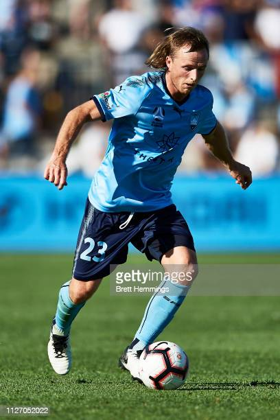 Rhyan Grant of Sydney controls the ball during the round 17 ALeague match between Sydney FC and Melbourne City at WIN Jubilee Stadium on February 03...