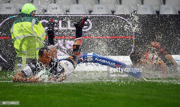 Rhyno Smith of the Cell C Sharks during the Currie Cup match between Cell C Sharks XV and Eastern Province Kings at Growthpoint Kings Park on...