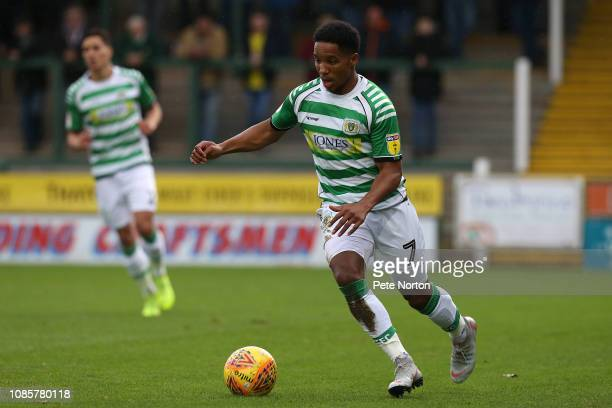 Rhys Browne of Yeovil Town in action during the Sky Bet League Two match between Yevoil Town and Northampton Town at Huish Park on December 22 2018...