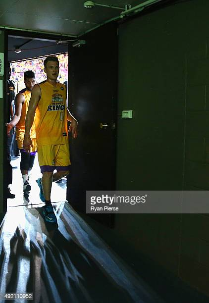 Rhys Carter of the Kings walks from the court after the round one NBL match between the Sydney Kings and the Cairns Taipans at Qantas Credit Union...