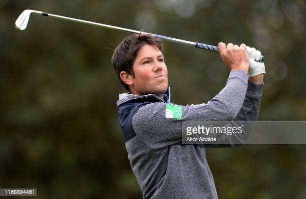 Rhys Enoch of Wales plays his tee shot on the 4th hole during day 4 of the Challenge Tour Grand Final at Club de Golf Alcanada on November 10 2019 in...