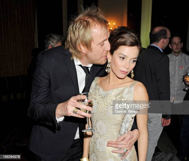 Rhys Ifans and Anna Friel attend an after party following the press night performance of 'Uncle Vanya' at The Charing Cross Hotel on November 2 2012...