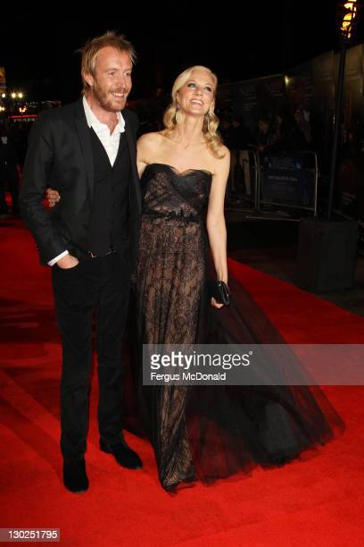 LR Rhys Ifans and Joely Richardson attend the premiere for 'Anonymous' at The 55th BFI London Film Festival at The Empire Leicester Square on October...