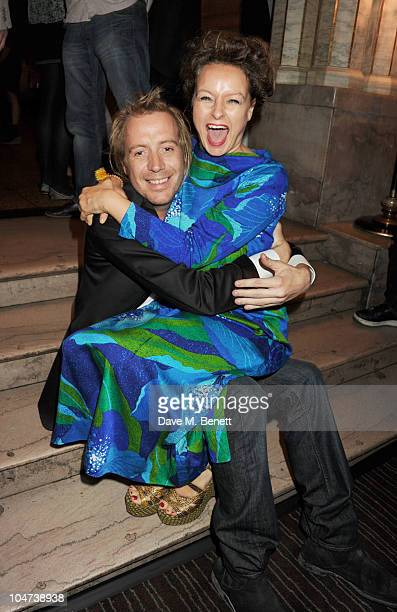 Rhys Ifans and Samantha Morton attend an after party for the London premiere of Mr Nice on October 4 2010 in London England