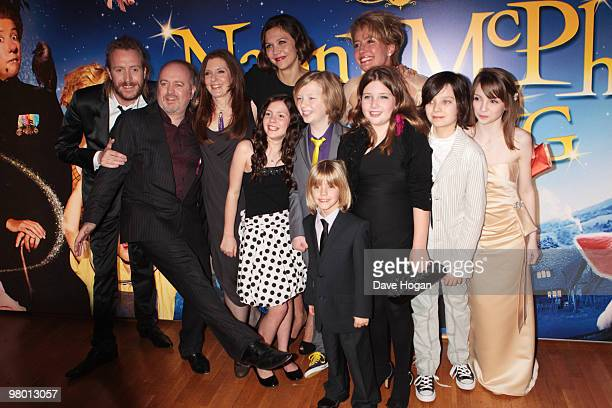 Rhys Ifans Bill Bailey Susanna White Lil Woods Maggie Gyllenhaal Oscar Steer Rosie Taylor Ritson and Emma Thompson attend the World Premiere of Nanny...