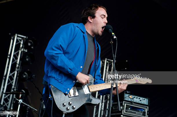 Rhys Jones of Good Shoes performs on the main stage during day one of Offset Festival at Hainault Country Park on September 4 2010 in Chigwell England