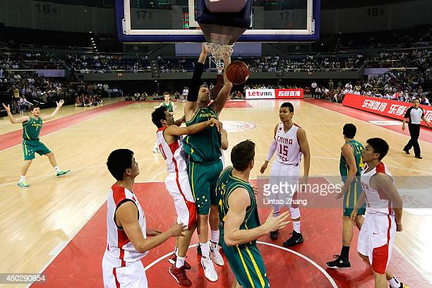 Rhys Martin of Australia goes for a layup during the 2014 SinoAustralia Men's International Basketball Challenge match between the Australian Boomers...