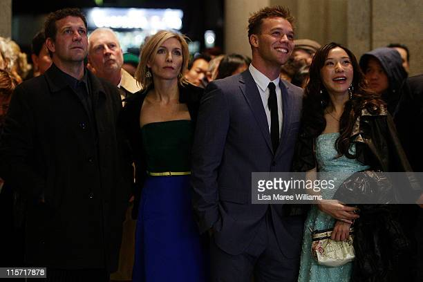 Rhys Muldoon Claudia Karvan Lincoln Lewis and Zhu Lin arrive at the Sydney screening of '33 Postcards' at Dendy Opera Quays Cinema on June 9 2011 in...