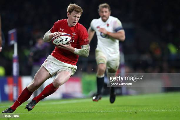 Rhys Patchell of Wales during the NatWest Six Nations match between England and Wales at Twickenham Stadium on February 10 2018 in London England