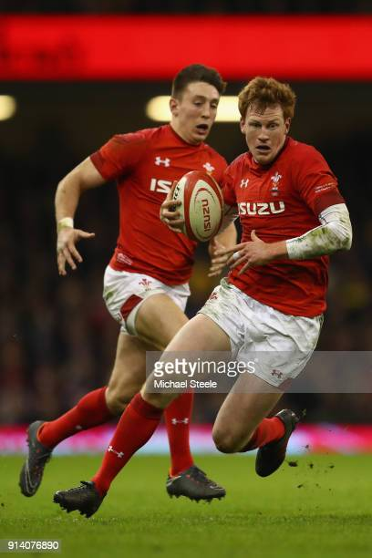 Rhys Patchell of Wales during the NatWest Six Natons match between Wales and Scotland at the Principality Stadium on February 3 2018 in Cardiff Wales
