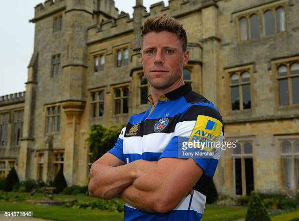 Rhys Priestland poses for a portrait during the Bath Rugby squad photo call for the 20162017 Aviva Premiership Rugby season on August 24 2016 in Bath...