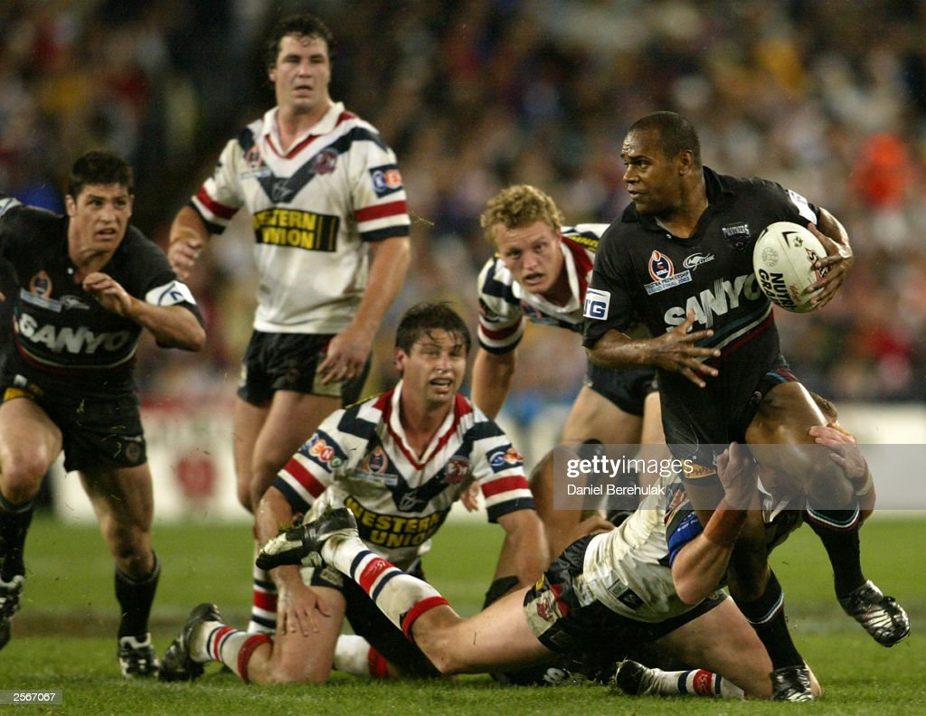 Rhys Wesser #1 of the Panthers in action during the NRL Grand Final between the Sydney Roosters and the Penrith Panthers at Telstra Stadium October 5, 2003 in Sydney, Australia. Penrith won 18-6.