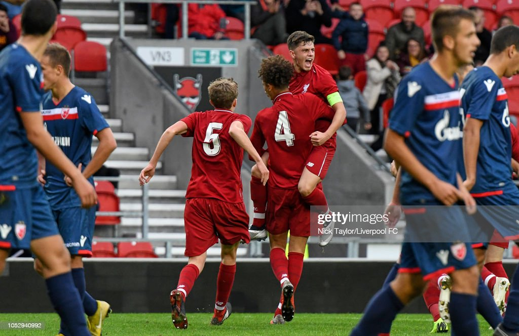 Liverpool v FK Crvena Zvezda - UEFA Youth League Group C : News Photo