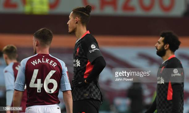 Rhys Williams of Liverpool in action during the FA Cup Third Round match between Aston Villa and Liverpool on January 08, 2021 in Birmingham,...