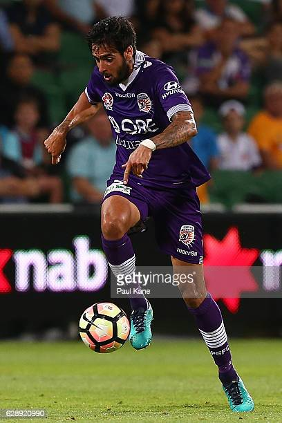 Rhys Williams of the Glory traps the ball during the round 10 ALeague match between the Perth Glory and the Newcastle Jets at nib Stadium on December...