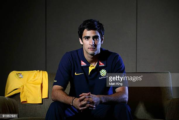 Rhys Williams poses during an Australian Socceroos portrait session at the Crowne Plaza Hotel Parramatta on October 7 2009 in Sydney Australia