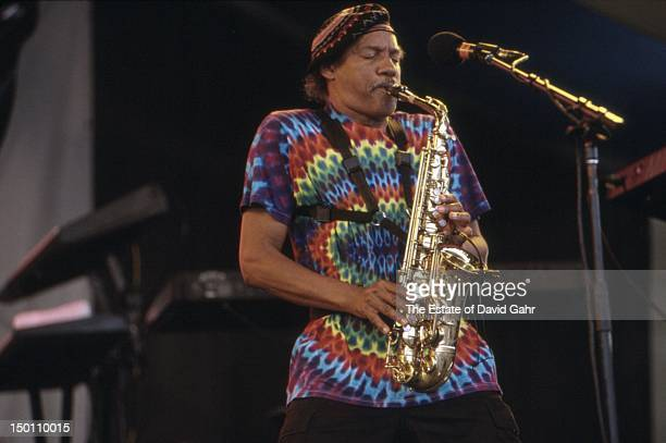 Rhythm and blues saxophonist and member of the Neville Brothers Charles Neville performs at the New Orleans Jazz and Heritage Festival in April, 1994...